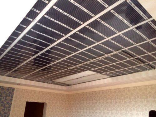 Пленка на потолок инфракрасная. Характеристики пленочного инфракрасного отопления на потолок