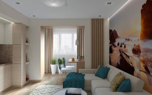 Интерьер гостиной в однокомнатной квартире. Советы по выбору дизайна однокомнатной квартиры