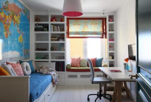 Дизайн детской в хрущевке. Дизайн детской комнаты в хрущевке: особенности оформления (+40 фото)