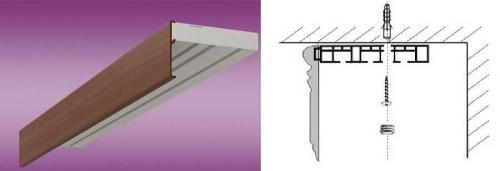 Потолочный карниз, как вешать. Как повесить карниз для штор на потолок