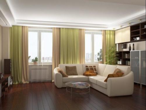 Дизайн угловой комнаты с двумя окнами. Преимущества и недостатки гостиных с двумя окнами