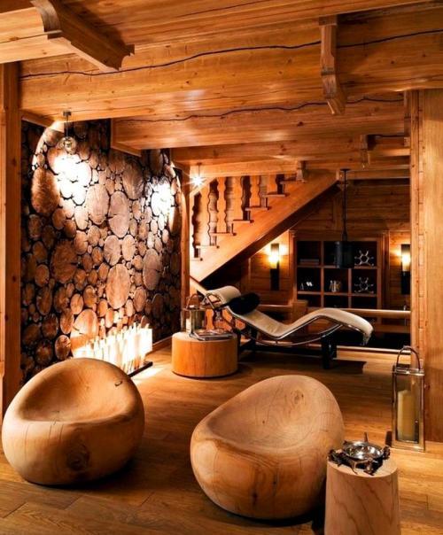 Дизайн комнат в деревянном доме. Обустройство внутреннего интерьера деревянного дома
