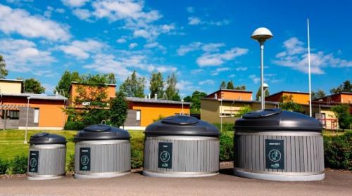 Оцинкованных металлических мусорных контейнеров заглубленного типа объемом 3м3. Заглубленные контейнеры для мусора